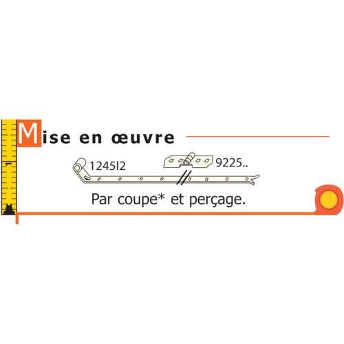 CHARNIÈRE POUR VOLET DOUBLE FER 35 MM