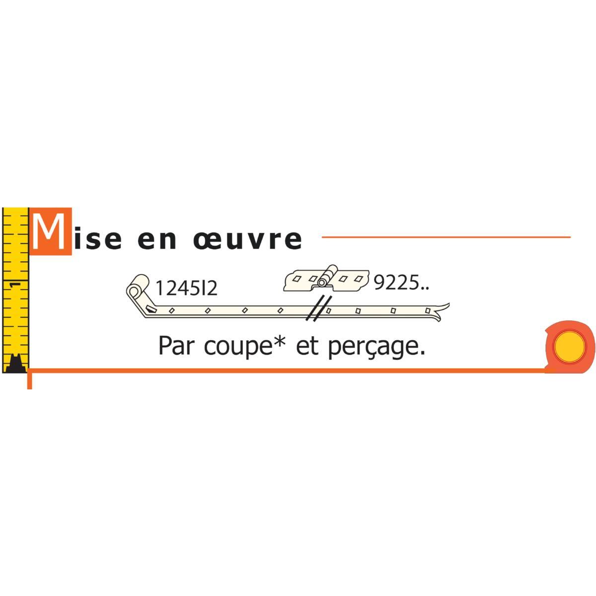 CHARNIÈRE POUR VOLET DOUBLE FER 40 MM