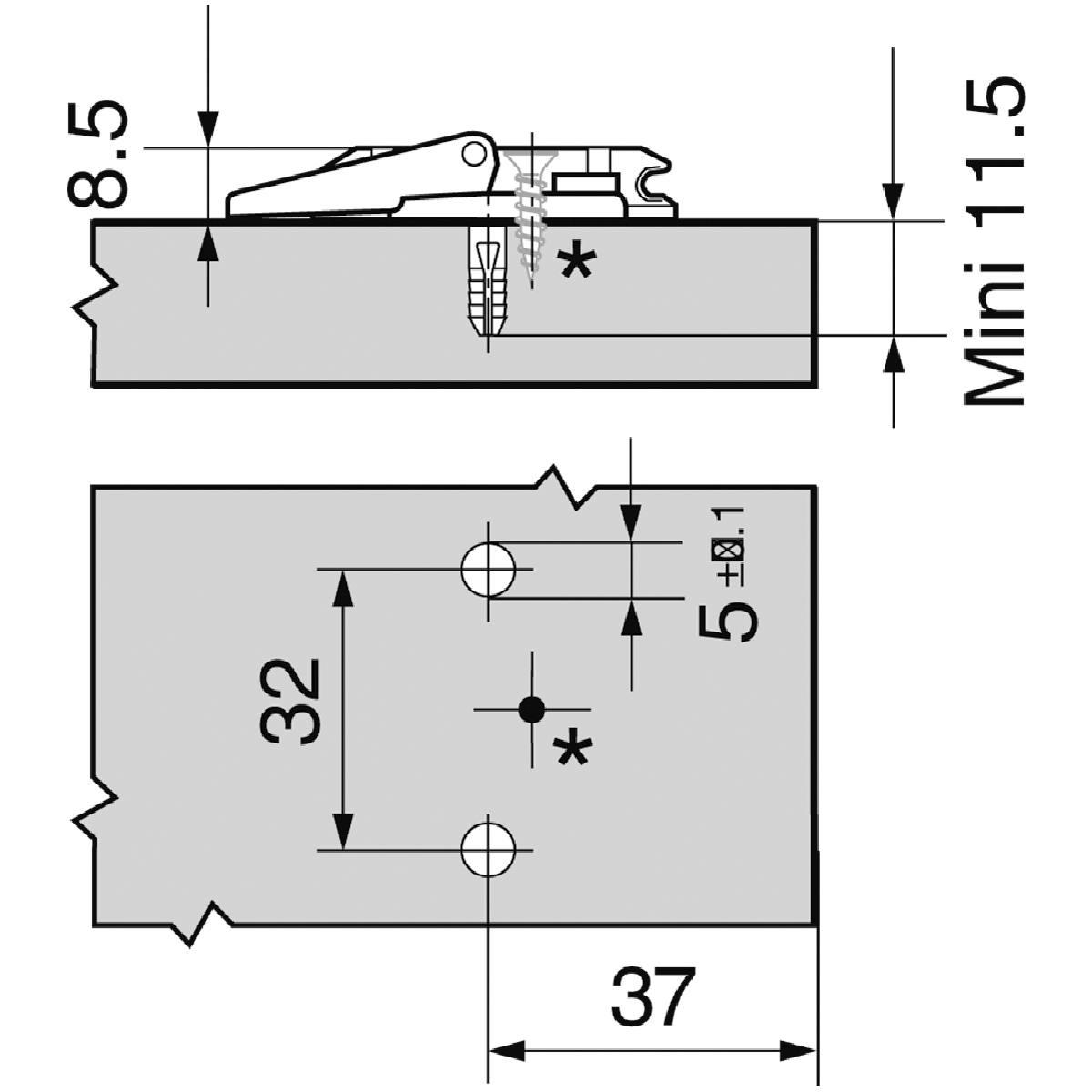 EMBASE CROIX HT : 8,5 MM INSERTA
