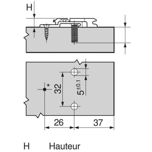 EMBASE CROIX HT : 8,5 MM EUROVIS