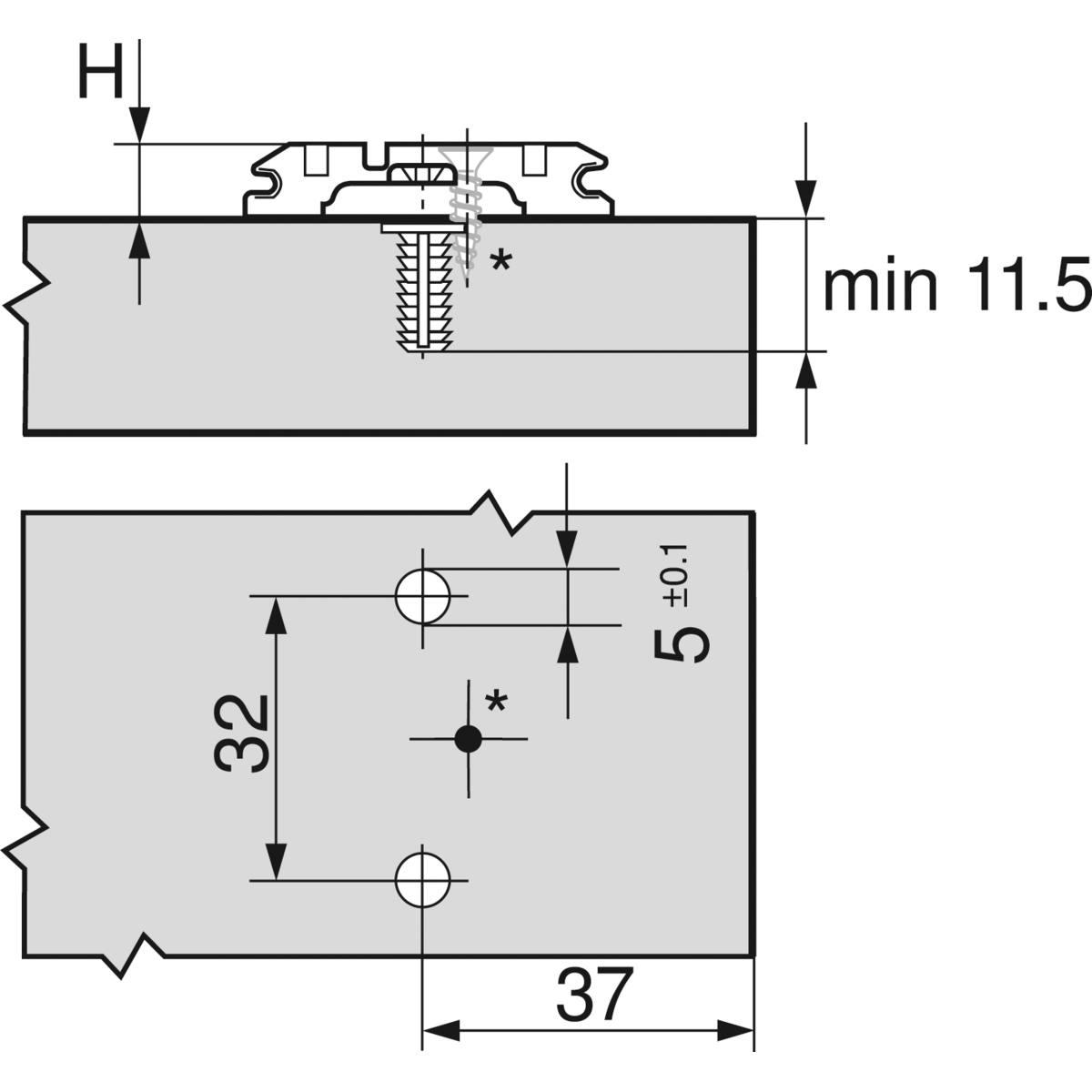 EMBASE CROIX HT : 8,5 MM EXPANDO