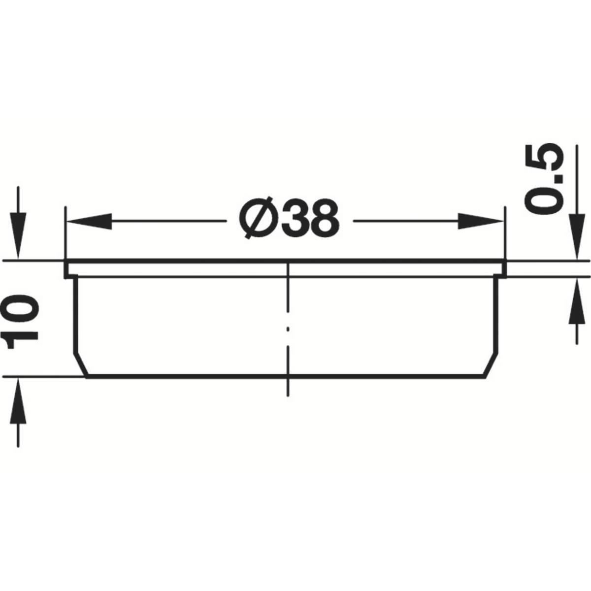 CACHE PVC ROND