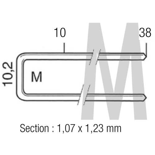BOÎTE 5000 AGRAFES M - 15 MM