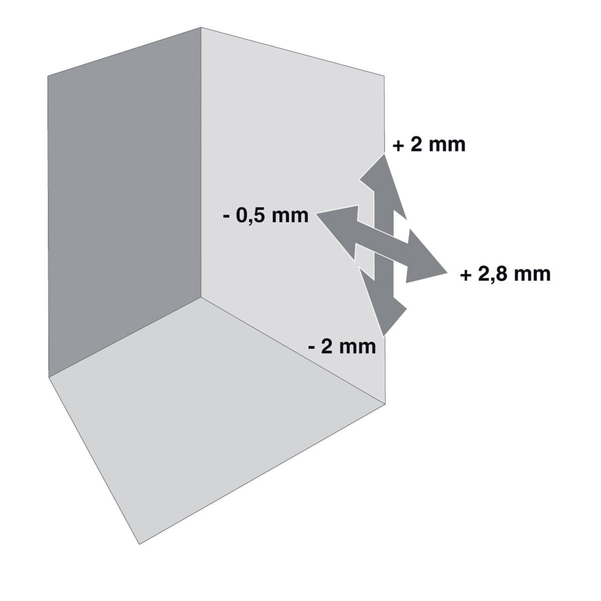 EMBASE CROIX HT : 3 MM DOMI À VISSER
